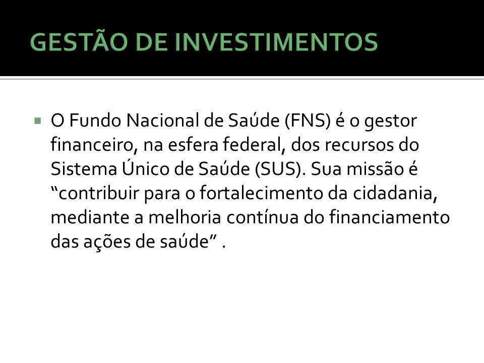 O Fundo Nacional de Saúde (FNS) é o gestor financeiro, na esfera federal, dos recursos do Sistema Único de Saúde (SUS).