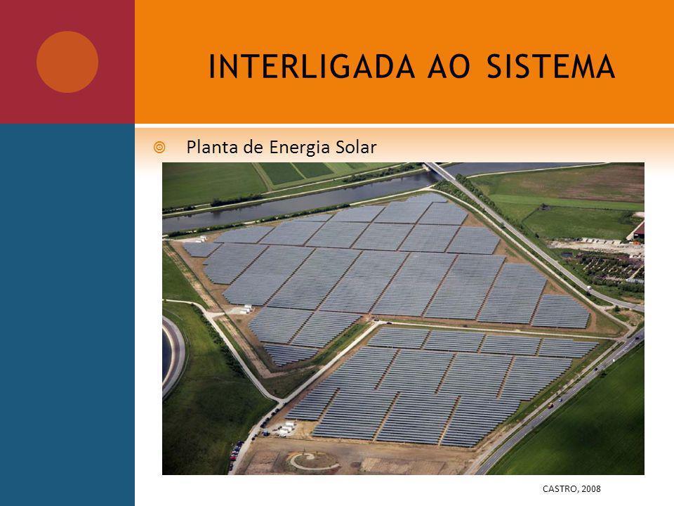 INTERLIGADA AO SISTEMA Planta de Energia Solar CASTRO, 2008
