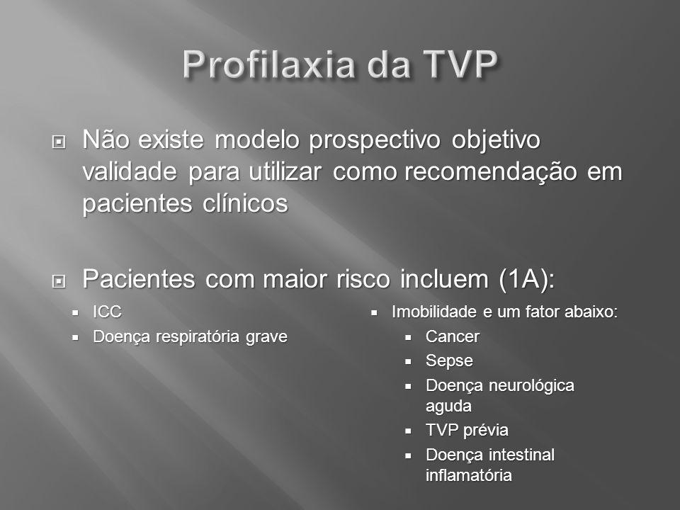 Não existe modelo prospectivo objetivo validade para utilizar como recomendação em pacientes clínicos Não existe modelo prospectivo objetivo validade
