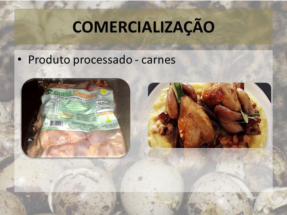COMERCIALIZAÇÃO Produto processado - carnes