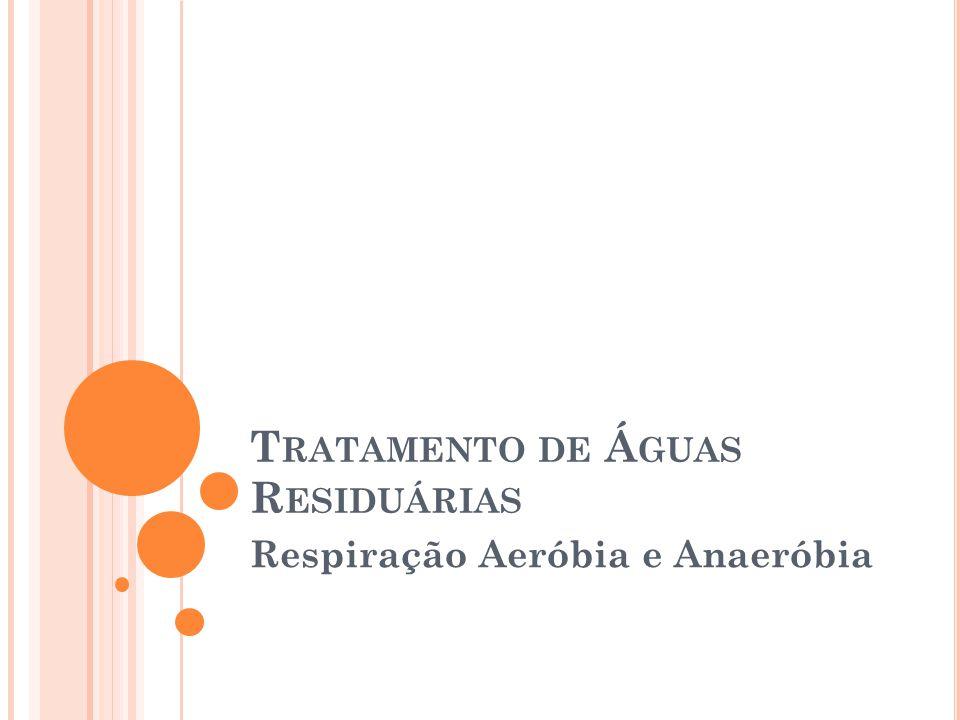 T RATAMENTO DE Á GUAS R ESIDUÁRIAS Respiração Aeróbia e Anaeróbia