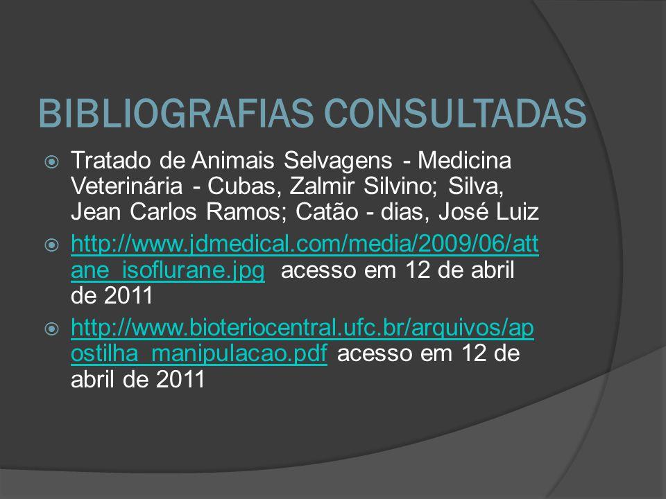 BIBLIOGRAFIAS CONSULTADAS Tratado de Animais Selvagens - Medicina Veterinária - Cubas, Zalmir Silvino; Silva, Jean Carlos Ramos; Catão - dias, José Lu
