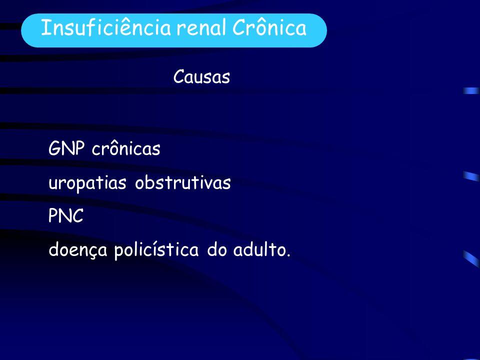 GNP crônicas uropatias obstrutivas PNC doença policística do adulto.