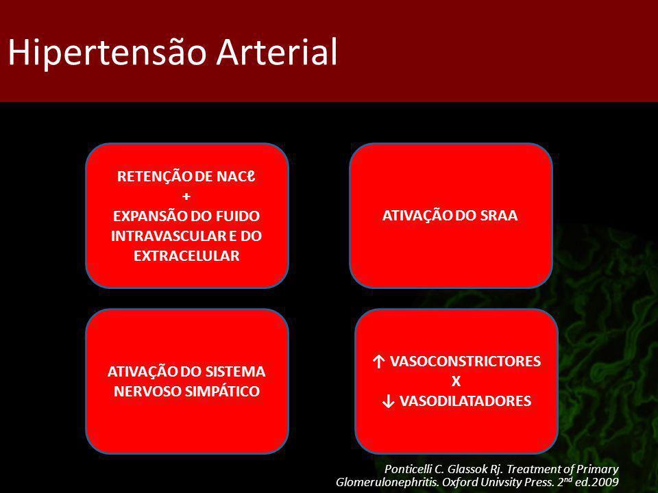 Tratamento da HAS Alvo terapêutico: – PAS 120 – 130 mmHg – PAD 70 – 80 mmHg Agentes: – iECA/BRA – Restrição de Na + Diuréticos – Ieca + BRA – BCCa Ponticelli C.