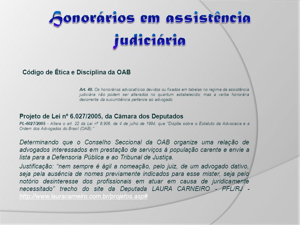 Código de Ética e Disciplina da OAB Art.40.