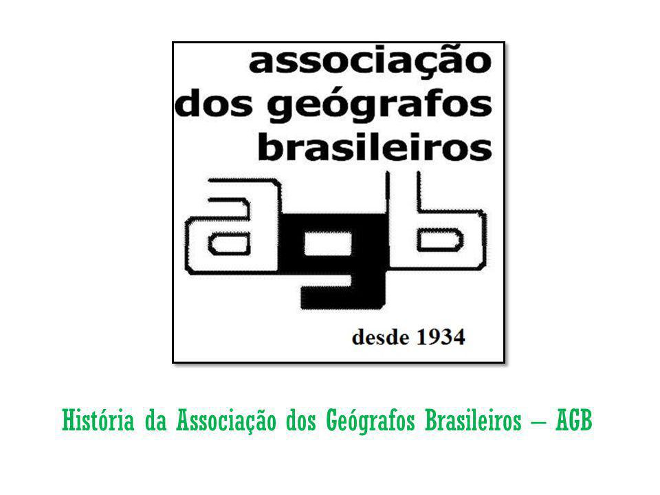 - A Associação dos Geógrafos Brasileiros (AGB) foi fundada por Pierre Deffontaines, em São Paulo, em 1934, no mesmo ano em que se iniciava os cursos de Geografia e História na Faculdade de Filosofia, Ciências e Letras da Universidade de São Paulo (FFCL/USP).