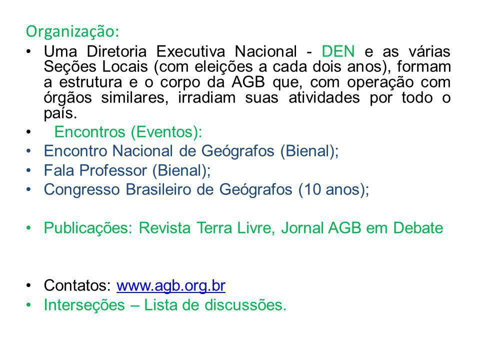 AGB – Seção Local de Marechal Cândido Rondon Diretor: Douglas C.