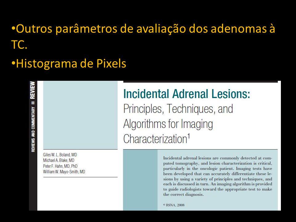 Outros parametros de avaliação dos adenomas à TC.