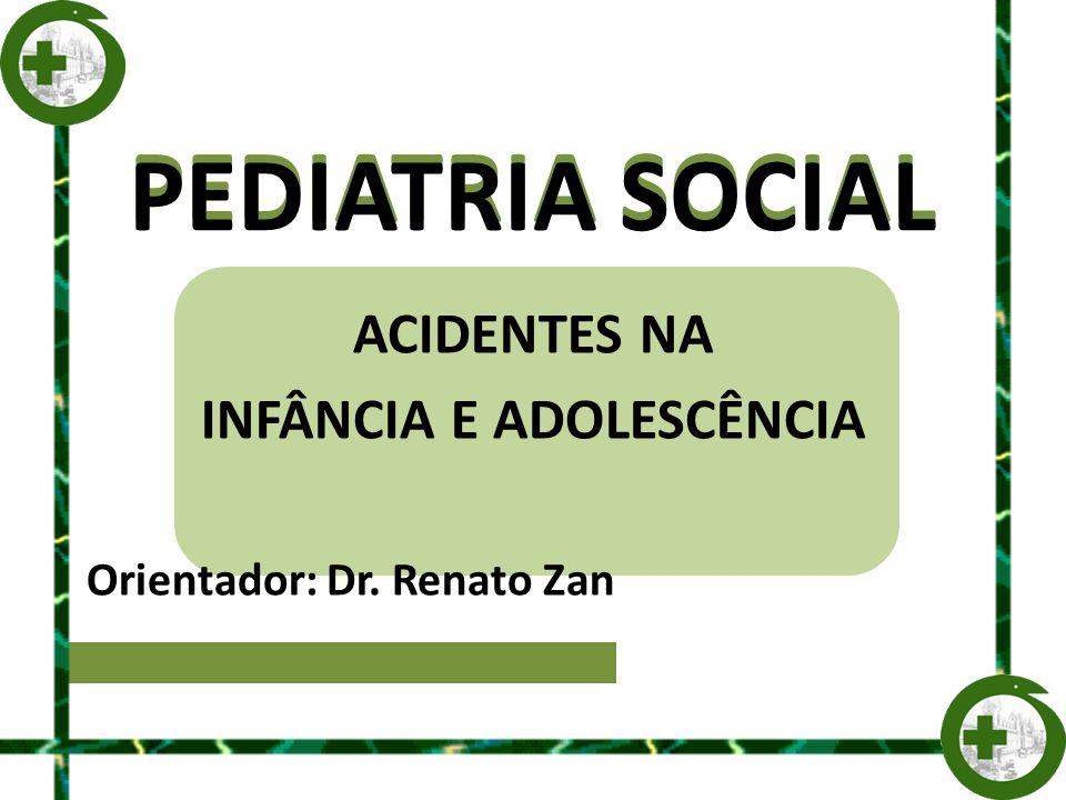 PEDIATRIA SOCIAL ACIDENTES NA INFÂNCIA E ADOLESCÊNCIA Orientador: Dr. Renato Zan PEDIATRIA SOCIAL