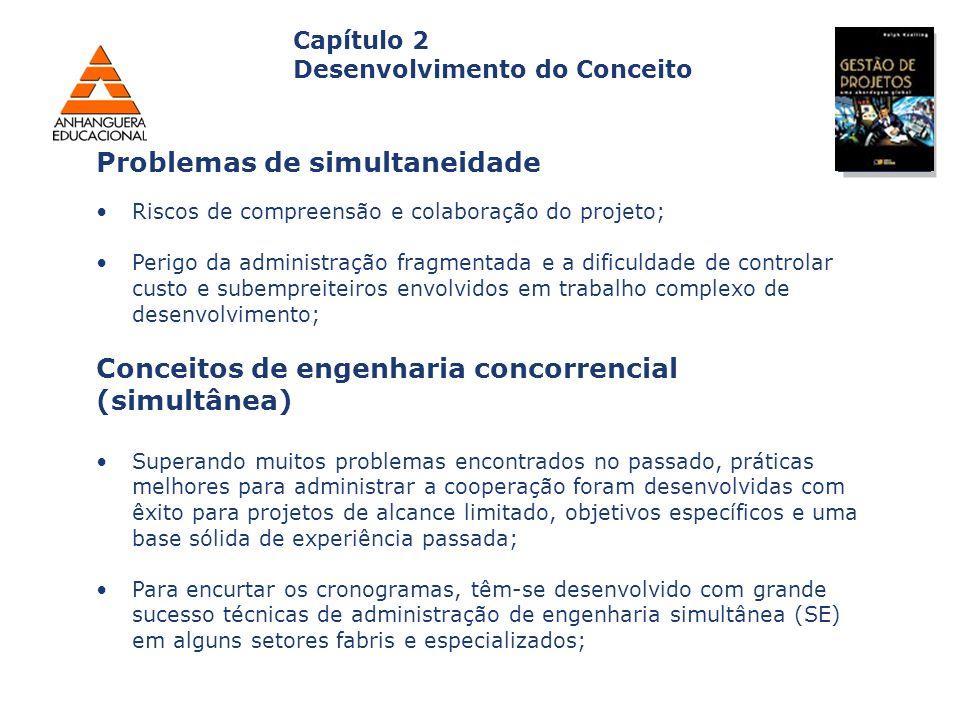 Capa da Obra Capítulo 2 Desenvolvimento do Conceito Riscos de compreensão e colaboração do projeto; Perigo da administração fragmentada e a dificuldad