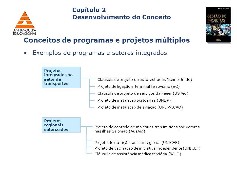 Capa da Obra Capítulo 2 Desenvolvimento do Conceito Exemplos de programas e setores integrados Conceitos de programas e projetos múltiplos Projetos in