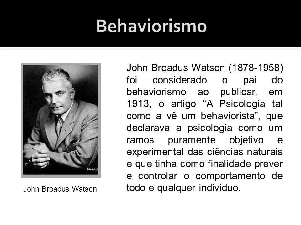 Watson partiu do principio de que as ações e as habilidades de individuo são determinadas por suas relações com o meio.