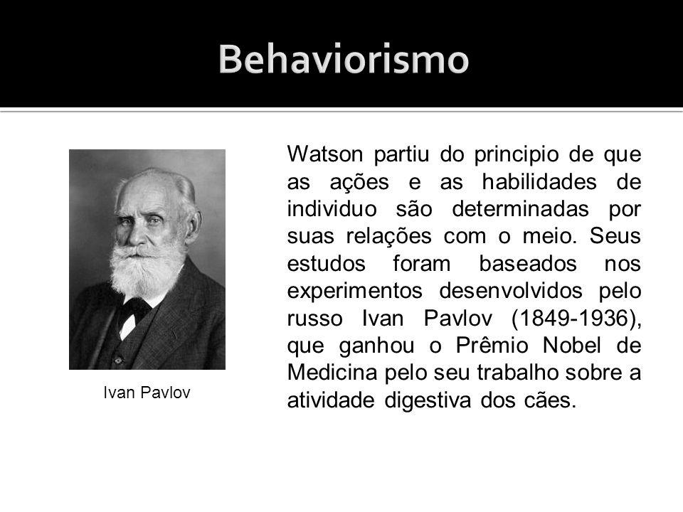 A partir das descobertas de Pavlov, tornou-se possível uma investigação empírica – método de pesquisa que se realiza através da observação e da experiência sobre a importância do meio na construção do comportamento.
