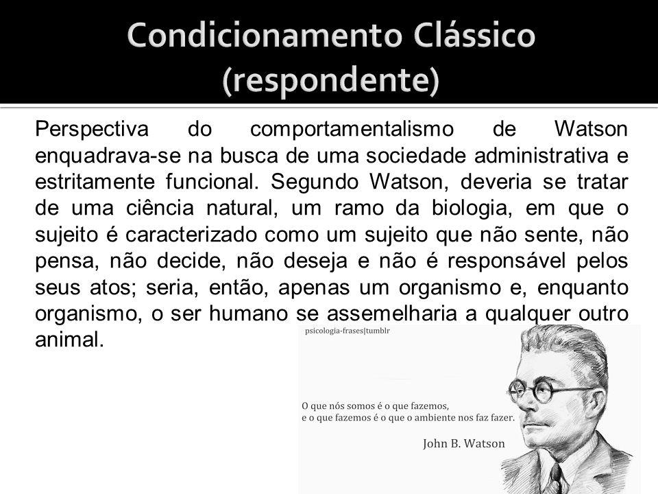 Watson comprovou com essa experiência sua tese de que as relações emocionais são aprendidas a partir da influência do ambiente.