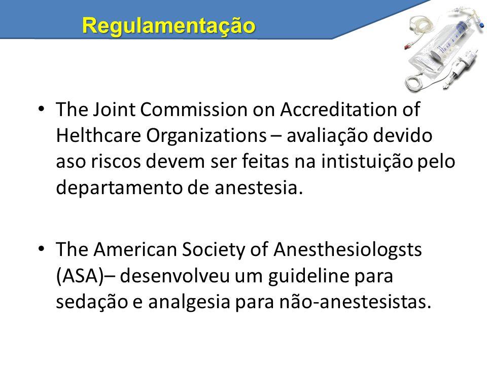 Regulamentação The Joint Commission on Accreditation of Helthcare Organizations – avaliação devido aso riscos devem ser feitas na intistuição pelo dep