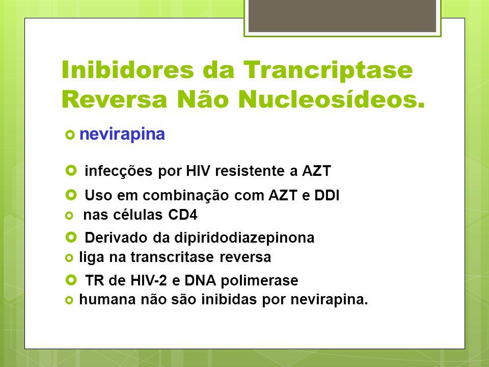 Inibidores da Trancriptase Reversa Não Nucleosídeos. nevirapina infecções por HIV resistente a AZT Uso em combinação com AZT e DDI nas células CD4 Der