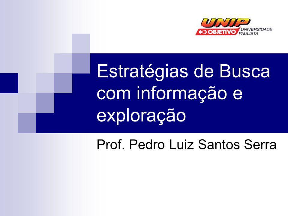Estratégias de Busca com informação e exploração Prof. Pedro Luiz Santos Serra