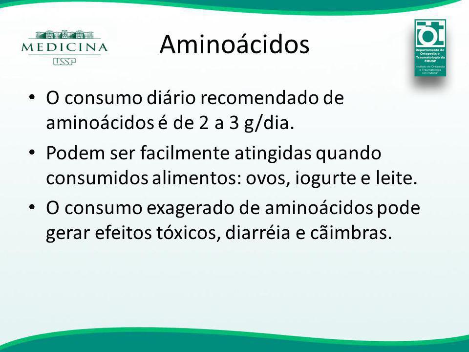 O consumo diário recomendado de aminoácidos é de 2 a 3 g/dia. Podem ser facilmente atingidas quando consumidos alimentos: ovos, iogurte e leite. O con