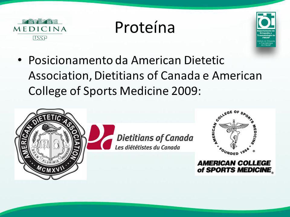 Proteína Posicionamento da American Dietetic Association, Dietitians of Canada e American College of Sports Medicine 2009:
