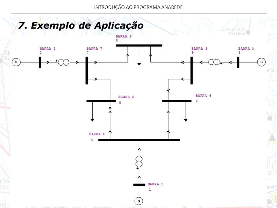 7. Exemplo de Aplicação INTRODUÇÃO AO PROGRAMA ANAREDE