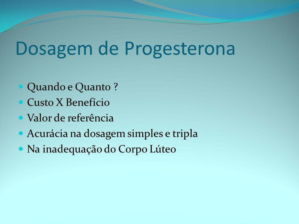 Dosagem de Progesterona Quando e Quanto .