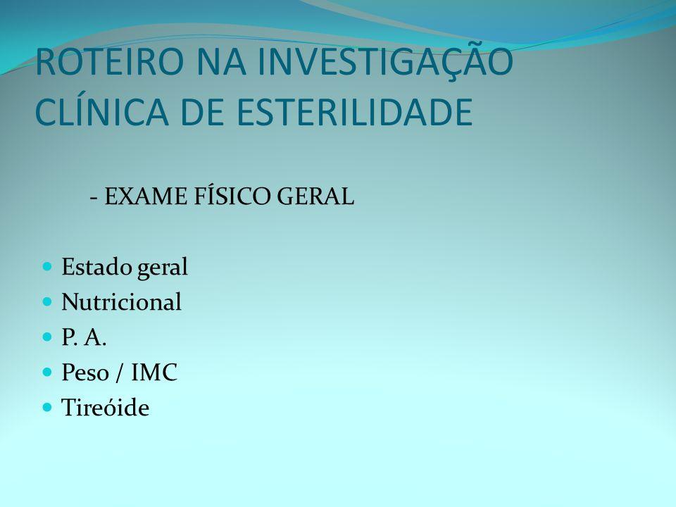 USG na propedêutica do Fator Ovulatório (FF, FO, FL ) Canal Cervical Cavidade Endometrial Corpo Lúteo