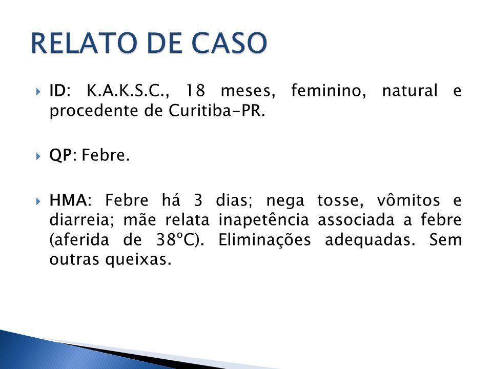 ID: K.A.K.S.C., 18 meses, feminino, natural e procedente de Curitiba-PR.