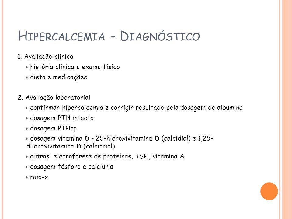 H IPERCALCEMIA - D IAGNÓSTICO 1.