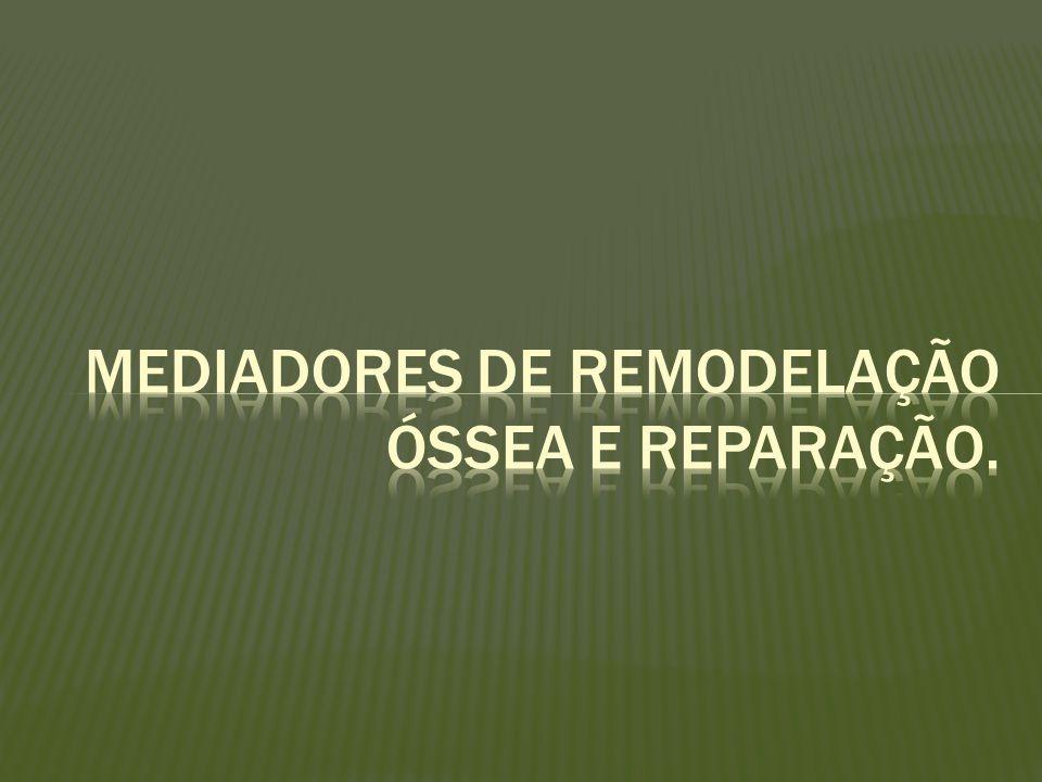 Remodelação óssea é regulada por hormônios sistêmicos e fatores locais que afetam as células das linhagens dos osteoclastos e osteoblastos.