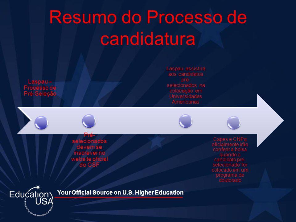 Your Official Source on U.S. Higher Education Resumo do Processo de candidatura Laspau – Processo de Pré-Seleção Laspau assistirá aos candidatos pré-