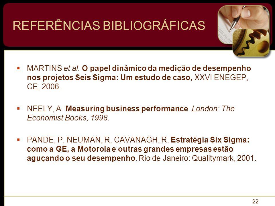 REFERÊNCIAS BIBLIOGRÁFICAS MARTINS et al.