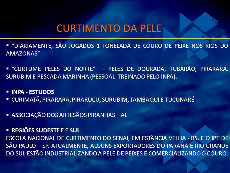 CURTIMENTO DA PELE DIARIAMENTE, SÃO JOGADOS 1 TONELADA DE COURO DE PEIXE NOS RIOS DO AMAZONAS CURTUME PELES DO NORTE - PELES DE DOURADA, TUBARÃO, PIRA
