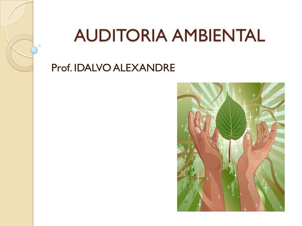 AUDITORIA AMBIENTAL Prof. IDALVO ALEXANDRE