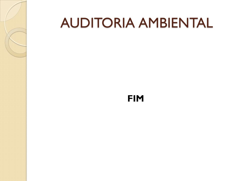 AUDITORIA AMBIENTAL FIM