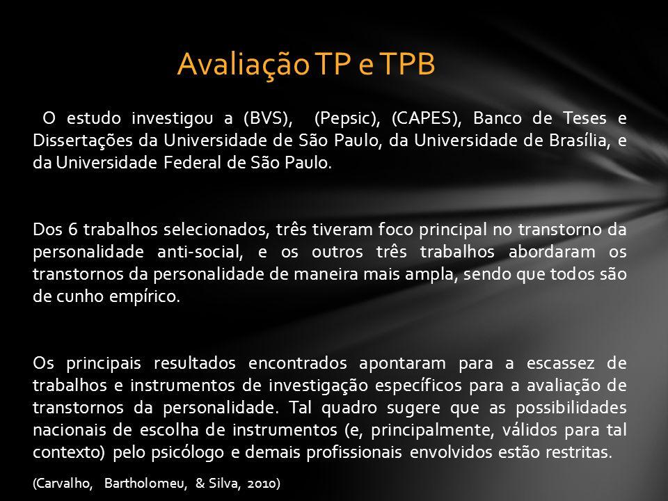 O estudo investigou a (BVS), (Pepsic), (CAPES), Banco de Teses e Dissertações da Universidade de São Paulo, da Universidade de Brasília, e da Universi