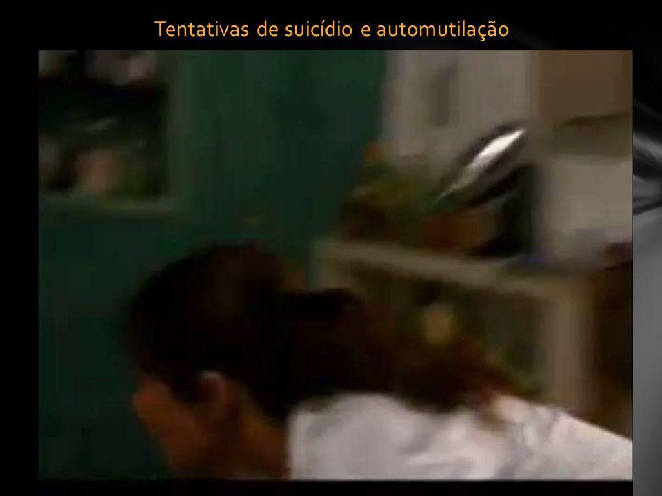 Tentativas de suicídio e automutilação