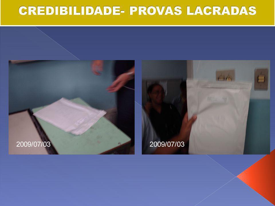 CREDIBILIDADE- PROVAS LACRADAS