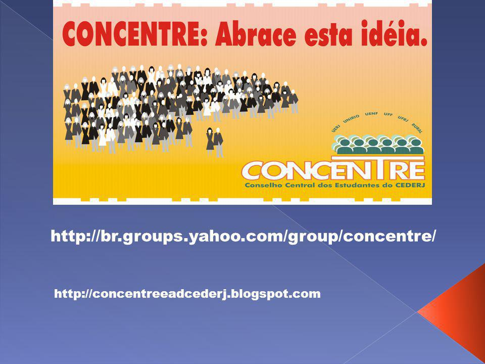 http://br.groups.yahoo.com/group/concentre/ http://concentreeadcederj.blogspot.com