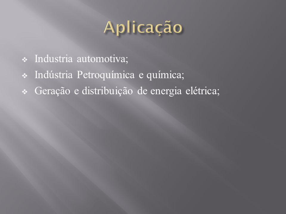 Industria automotiva; Indústria Petroquímica e química; Geração e distribuição de energia elétrica;
