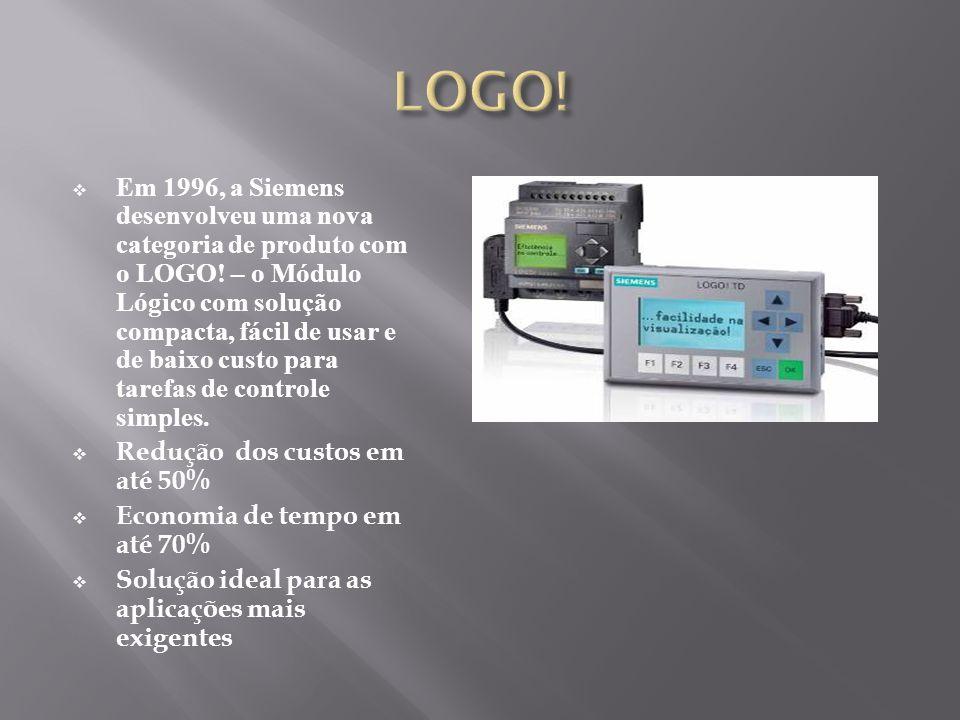 Em 1996, a Siemens desenvolveu uma nova categoria de produto com o LOGO! – o Módulo Lógico com solução compacta, fácil de usar e de baixo custo para t