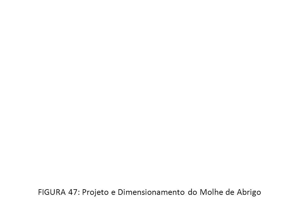 FIGURA 47: Projeto e Dimensionamento do Molhe de Abrigo
