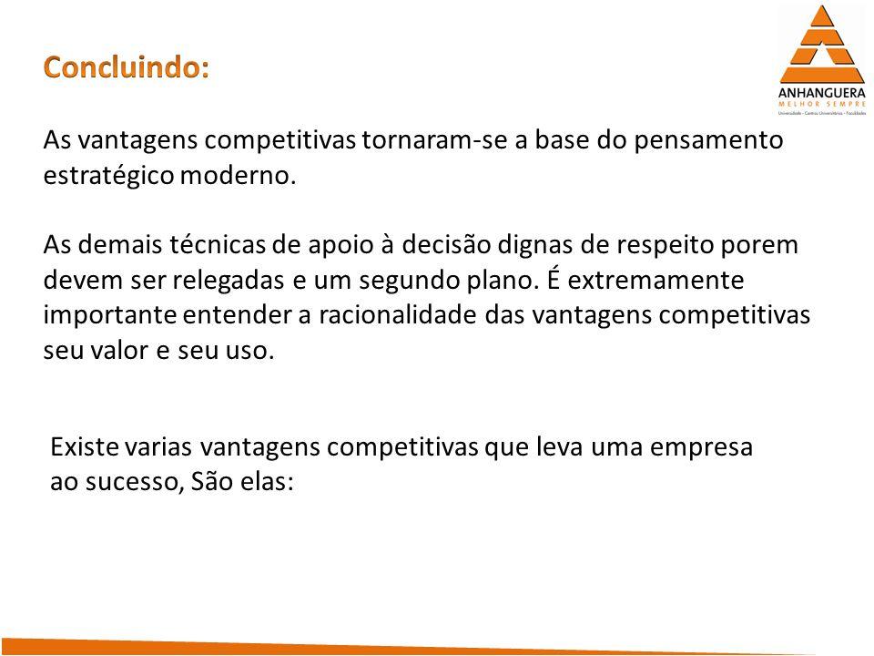 vantagem competitiva por ter preferência dos clientes/consumidores.