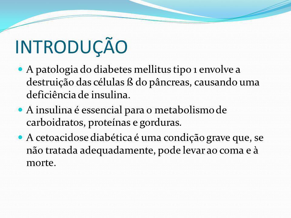 INTRODUÇÃO A patologia do diabetes mellitus tipo 1 envolve a destruição das células ß do pâncreas, causando uma deficiência de insulina.