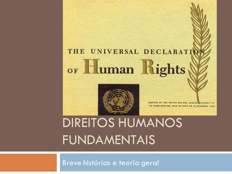 DIREITOS HUMANOS FUNDAMENTAIS Breve histórico e teoria geral