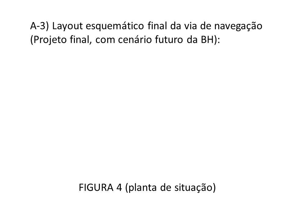 A-3) Layout esquemático final da via de navegação (Projeto final, com cenário futuro da BH): FIGURA 4 (planta de situação)