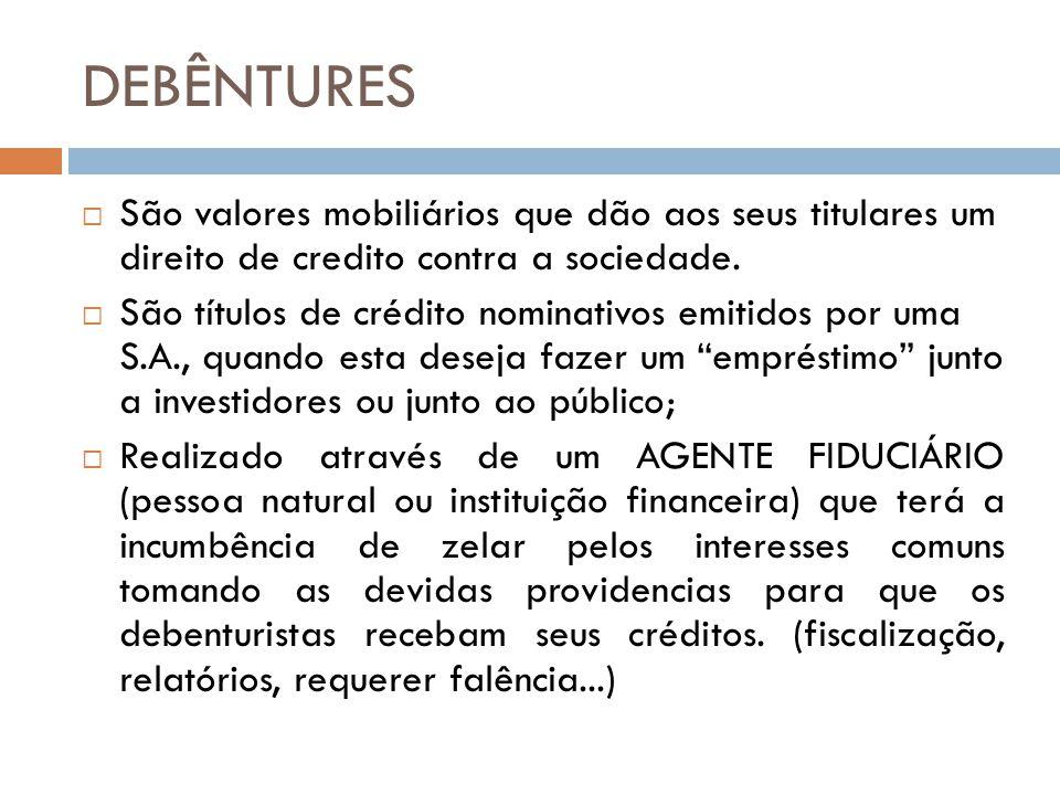 CLASSIFICAÇÃO DAS DEBENTURES A) QUANTO À GARANTIA: i) com garantia real (Lei 11.101/2005, art.