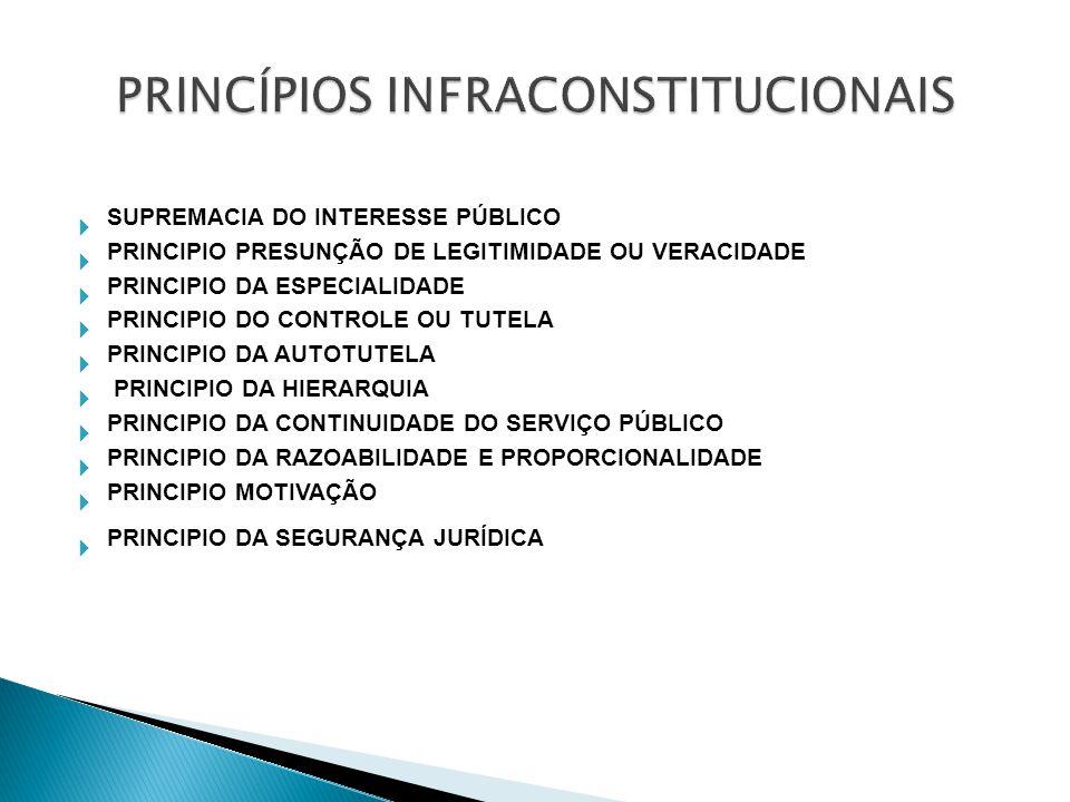 O princípio da legalidade apresenta justificáveis restrições: Medidas provisórias; Estado dedefesa ; Estado de sítio.