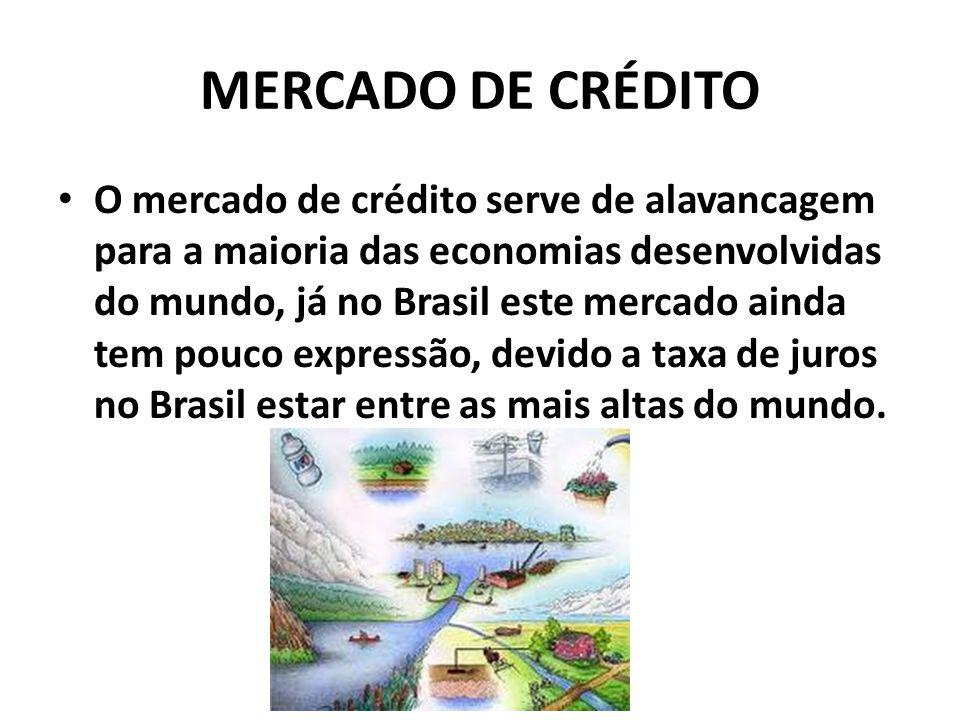 MERCADO DE CRÉDITO O mercado de crédito serve de alavancagem para a maioria das economias desenvolvidas do mundo, já no Brasil este mercado ainda tem