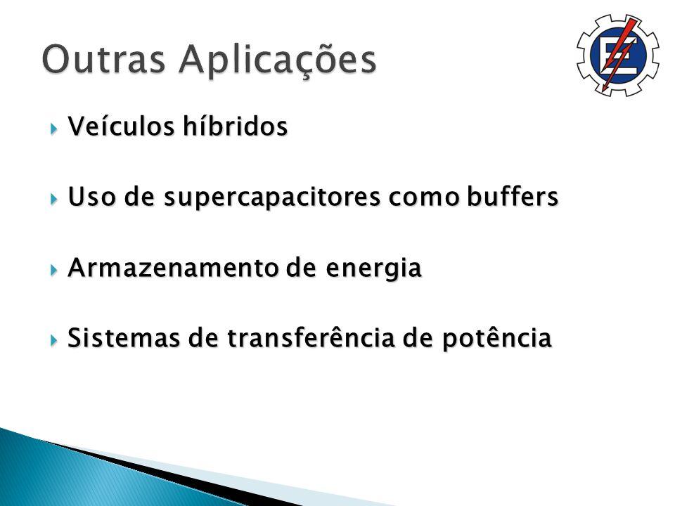 Veículos híbridos Veículos híbridos Uso de supercapacitores como buffers Uso de supercapacitores como buffers Armazenamento de energia Armazenamento de energia Sistemas de transferência de potência Sistemas de transferência de potência