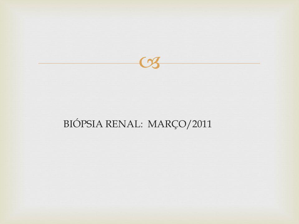 BIÓPSIA RENAL: MARÇO/2011